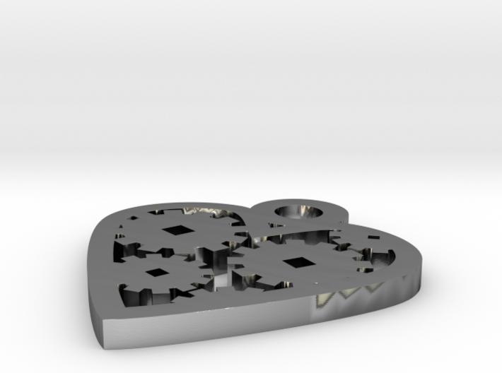 """Love Machine"" pendant 3d printed"