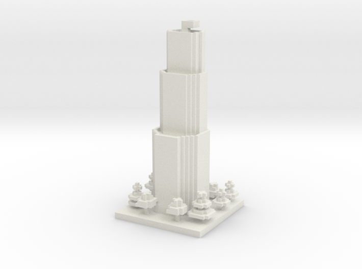30x30 Tower01 (mix trees) (1mm series) 3d printed