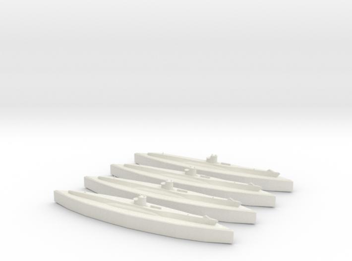 U-100 (Type VIIB U-Boat) 1/1800 x4 3d printed