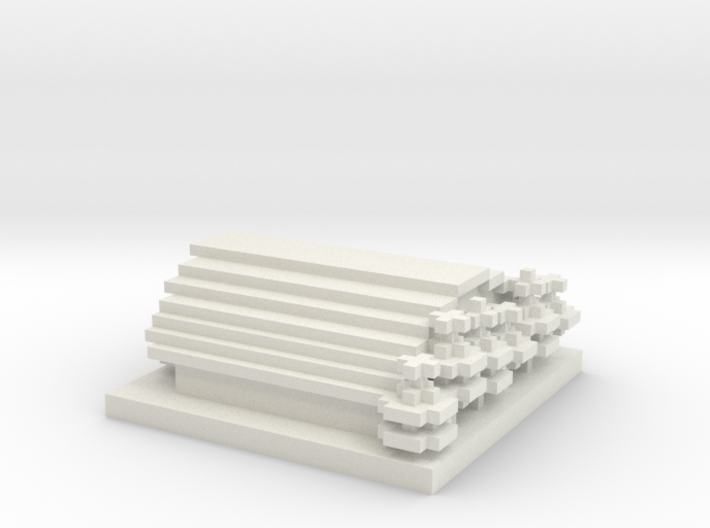 30x30 Town hall (1mm series) 3d printed