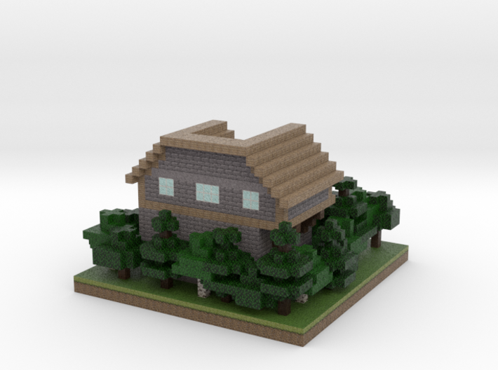 30x30 House03 (mix Trees) (1mm series) 3d printed