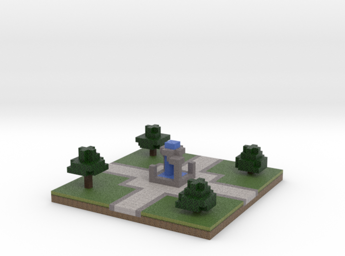 30x30 Fountain (1mm series) 3d printed