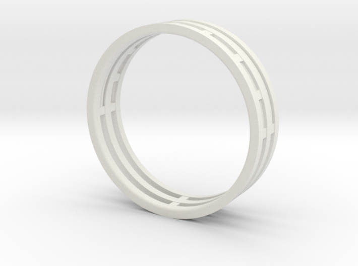 Nice modern ring : symmetrie at work 3d printed