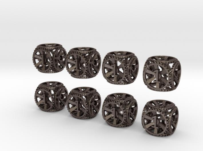 Gear Dice - D6 8 Pack 3d printed