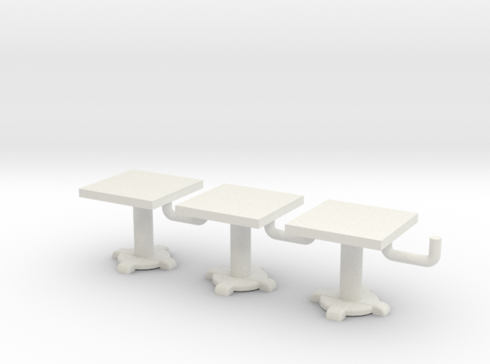 Square Tables HO Scale X3 3d printed
