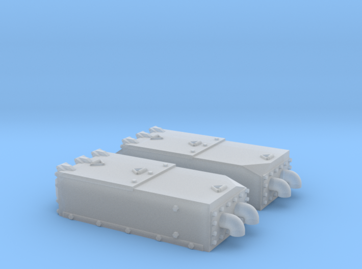 1:35 M60A2 Aluminum Toploader Air Filter box 3d printed
