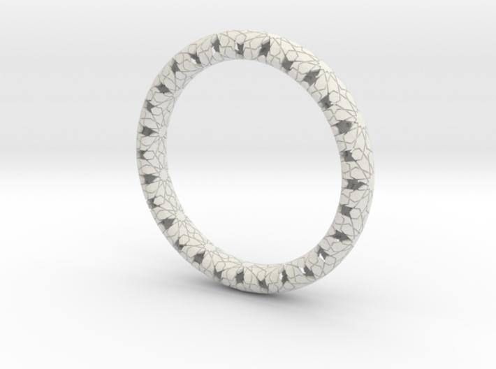 Beraldo Bangle - Silver 3d printed