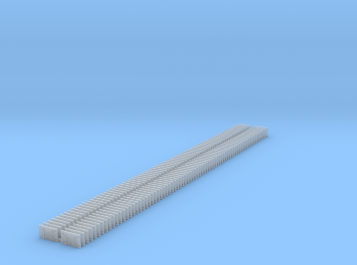 Small 8 Hole tieplate - O Scale - 150 count 3d printed