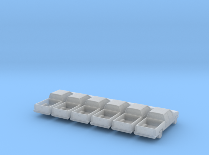 Crew Cab Pickup - Set of 6 - Nscale 3d printed