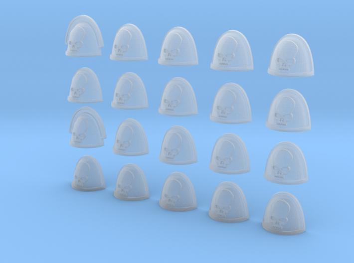 20 28mm Shoulder Pad Squad Marking Skull 3d printed