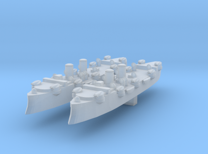 USS Baltimore (C-3) 1:4800 x2 3d printed