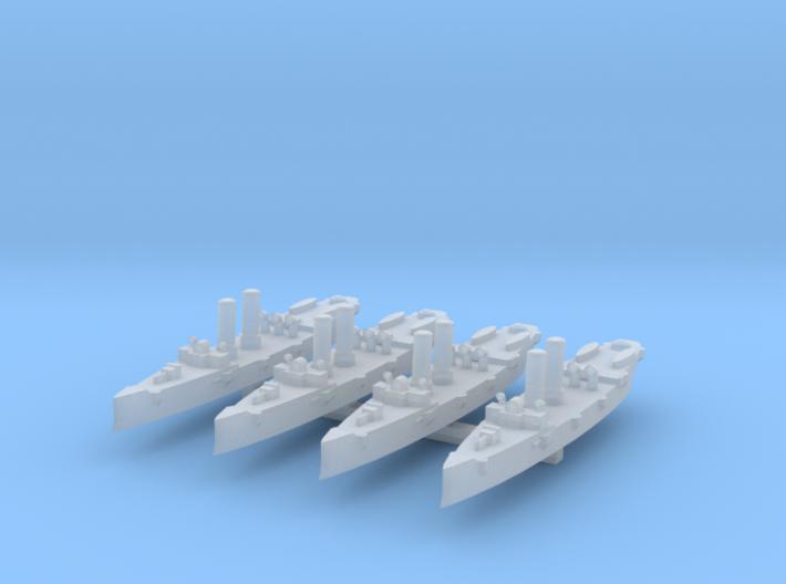 USS Montgomery (1890) 1:3000 x4 3d printed
