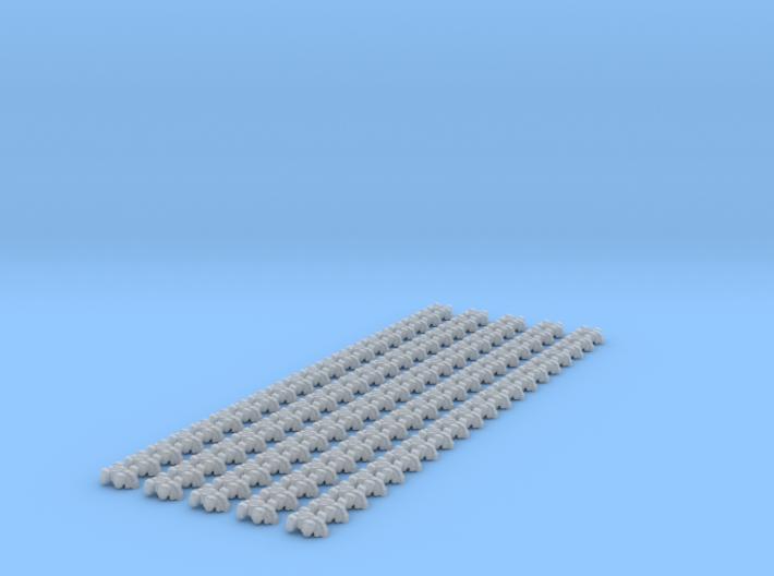 100x Dropships 3d printed