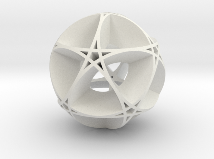 Pentragram Dodecahedron 1 (wide) 3d printed