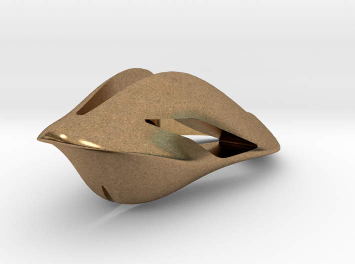 Floating Free, Pendant. Smooth Elegance 3d printed