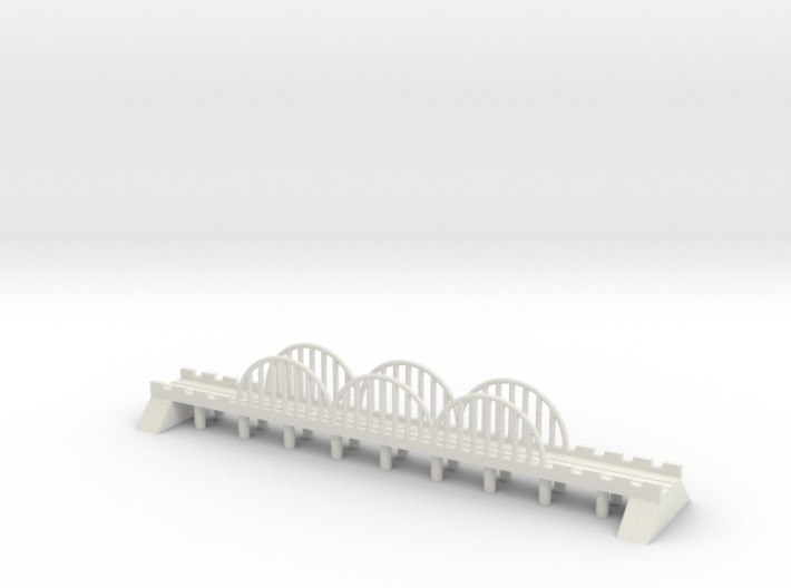 1/700 Steel Rail Bridge 3d printed