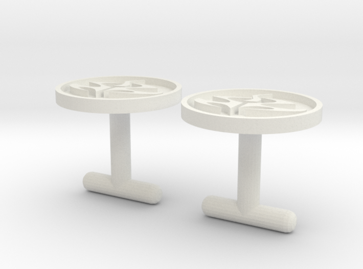 Agent 47 cufflinks, larger size 3d printed