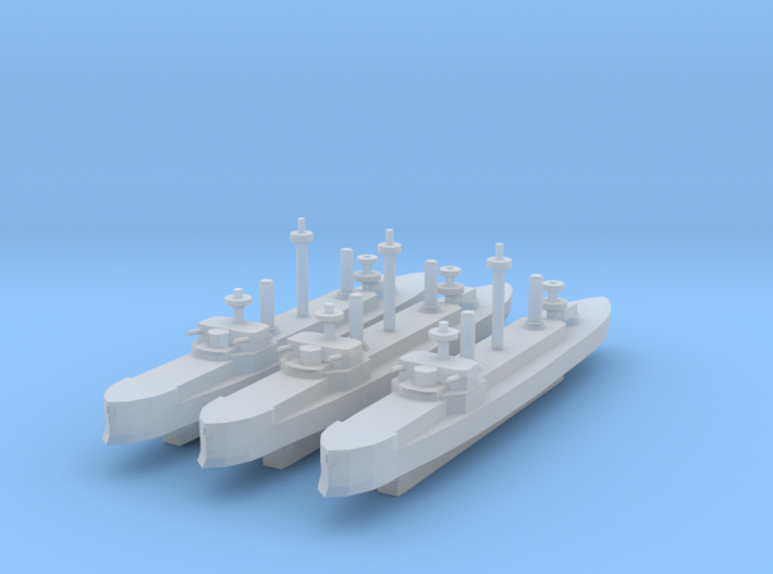 Hydra Class Ironclad 1:4800 x3 3d printed