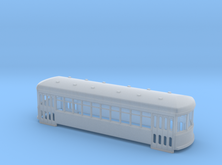 N scale short trolley - city car 10 window 3d printed