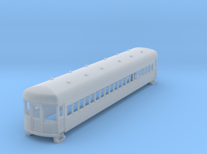 N gauge 55ft interurban coach arch roof 2 3d printed
