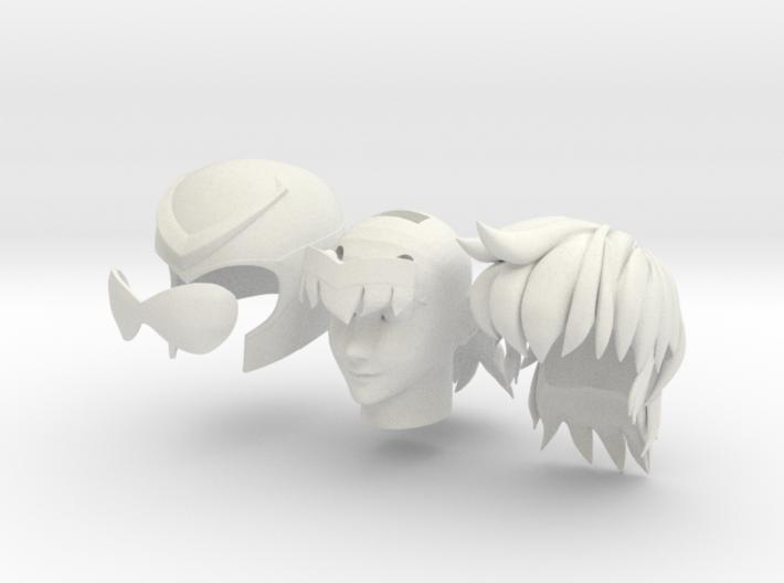 anime head 3d printed