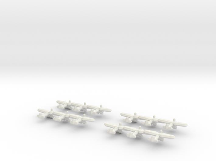 PZL P.24 (Triplet) 1/900 x4 3d printed