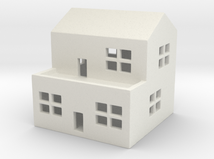 1/700 Town House 2 3d printed