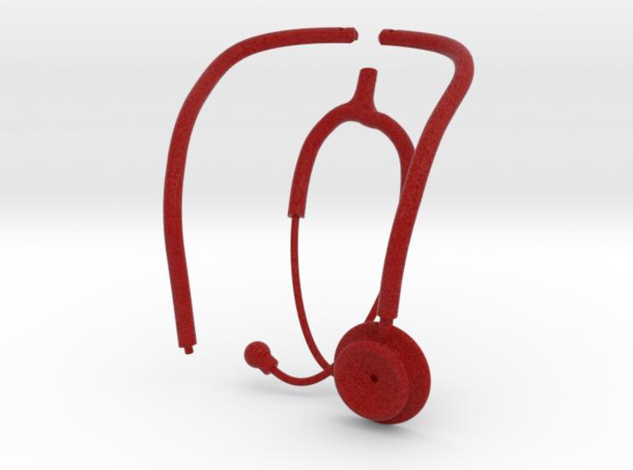 Stethoscope Burgundy V1 3d printed