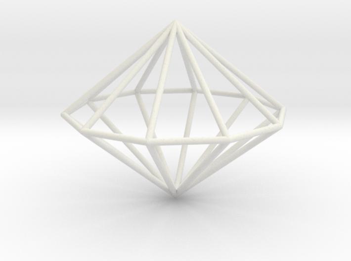 Decagonal dipyramid 70mm 3d printed