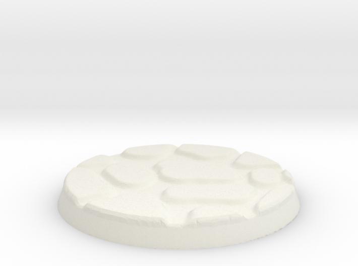 25mm Figure Base Large Cobble 3d printed