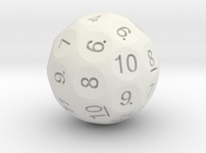 D36 Truncated Standard Numbers 3d printed