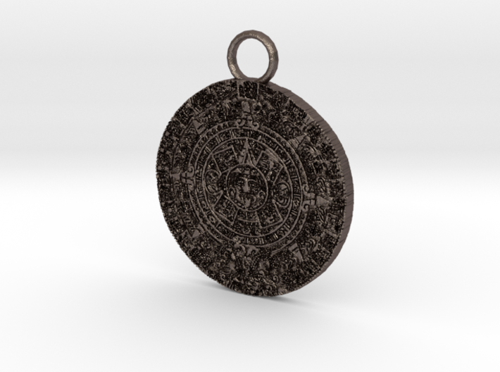 mayan pendant 3c5 thin2 3d printed