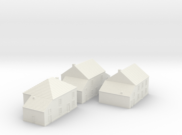 1/350 Village Houses 2 3d printed