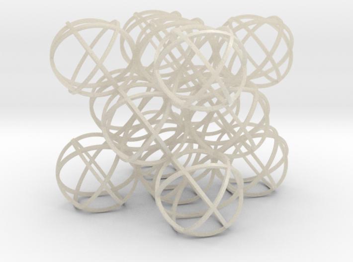 Packed Spheres Cube 3d printed