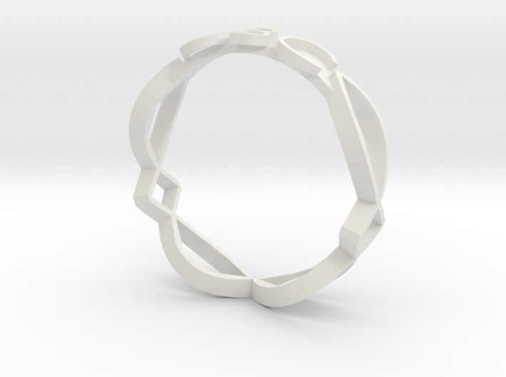 Ichthus Fish Ring 3d printed