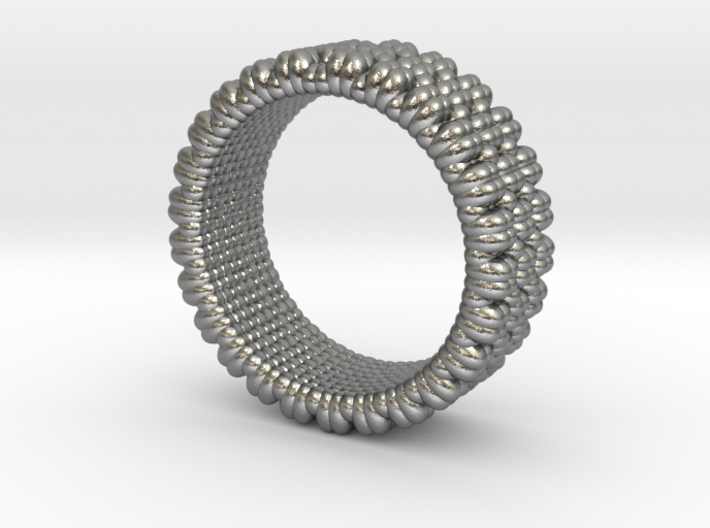 Pebble Ring - Checkered Pattern 1 (19mm) 3d printed