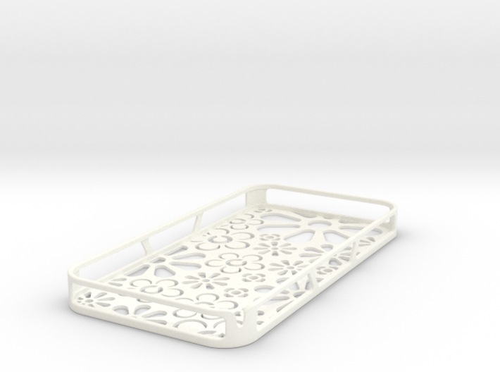 4 and 4s iPhone case: Flowers 3d printed