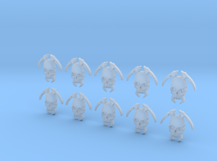 10 18mm Tall Skull Scythe Icons 3d printed