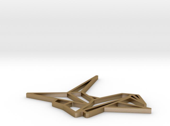 Pendant Origami Crane 3d printed