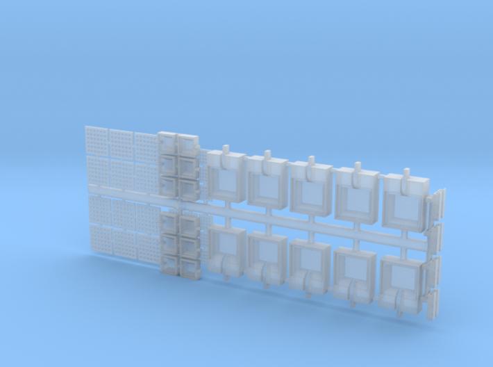 HO Exterior Light Fixtures & Cameras 3d printed