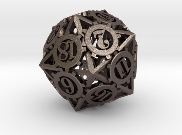 Steampunk Gear D20 3d printed