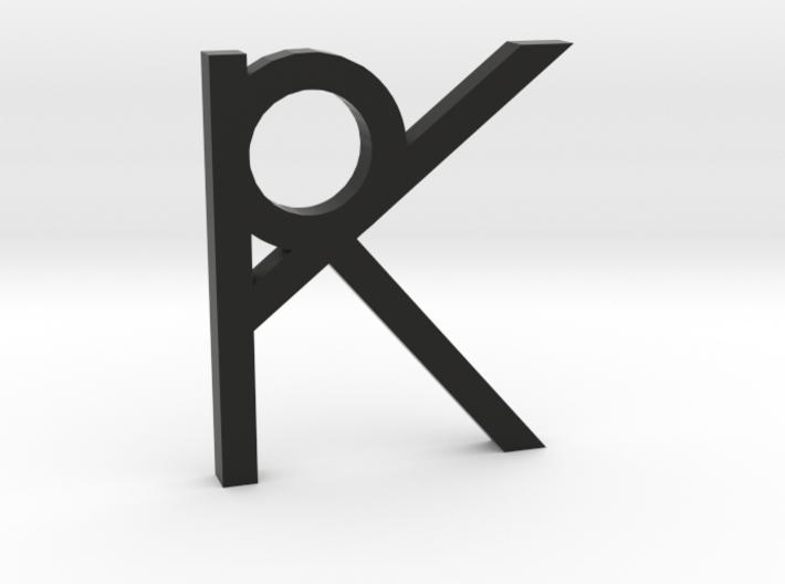 RK Logo 3d printed