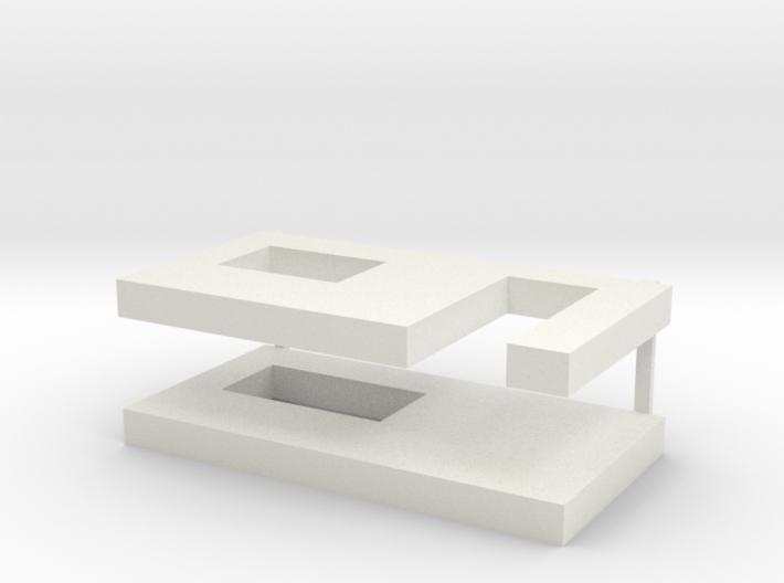 muren beton schaal 1:87 3d printed