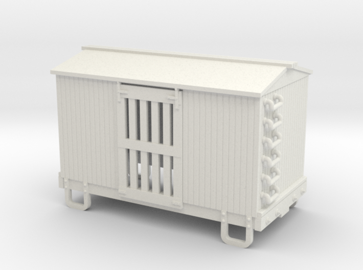 HOn30 13ft 4w ventilated box car 3d printed