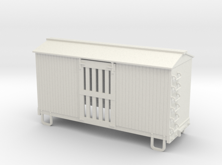 On30 16ft ventilated box car 3d printed