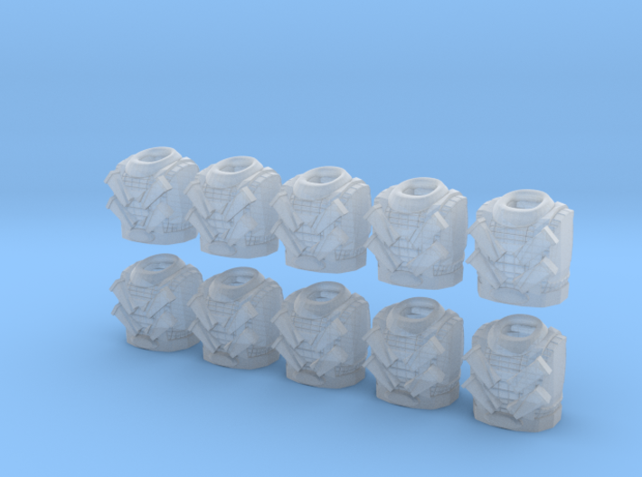 Scale Mail Torsos - 10, 28mm Figurine 3d printed