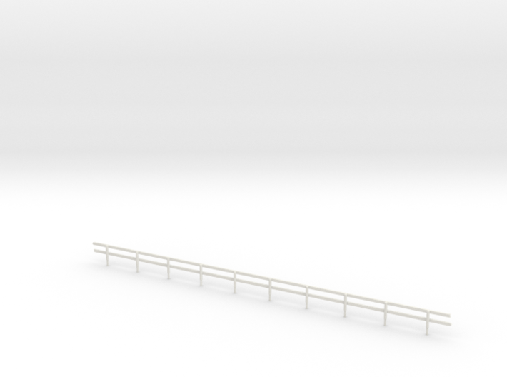 HO-Scale Wood Guard Rail 3d printed