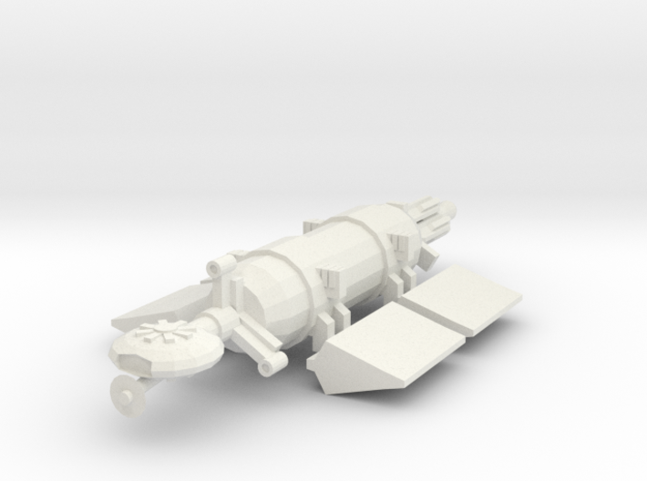 1/1000 Scale Whale Deep Space Freighter 3d printed