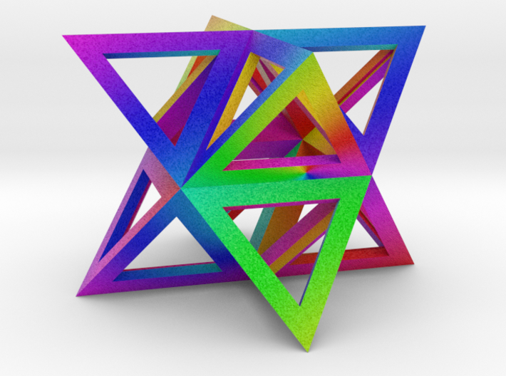 Vibrant Stellated Octahedron Frame 3d printed