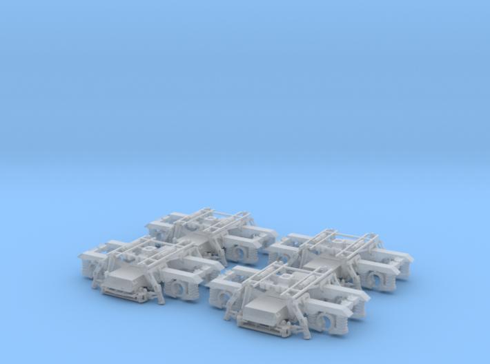 LTF25 (NP) v0.6 - 2 Pairs (4 bogies) OO Scale 3d printed